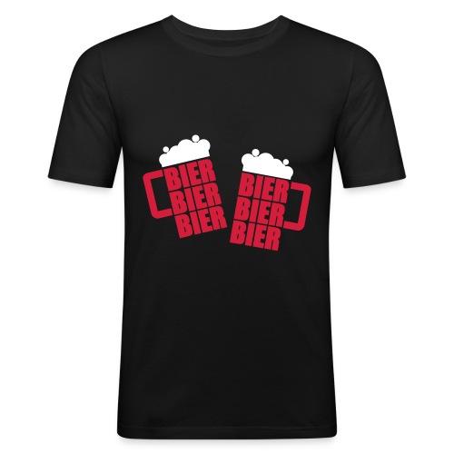 Bier, Bier, Bier - Herre Slim Fit T-Shirt