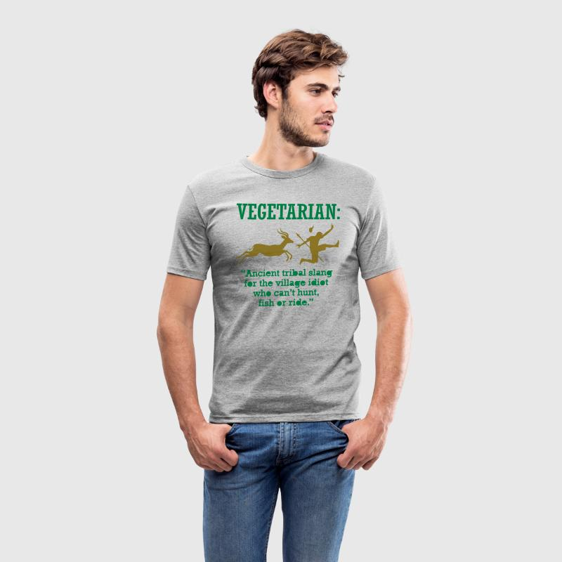 Vegetarian 1 (2c)++ T-skjorter - Slim Fit T-skjorte for menn