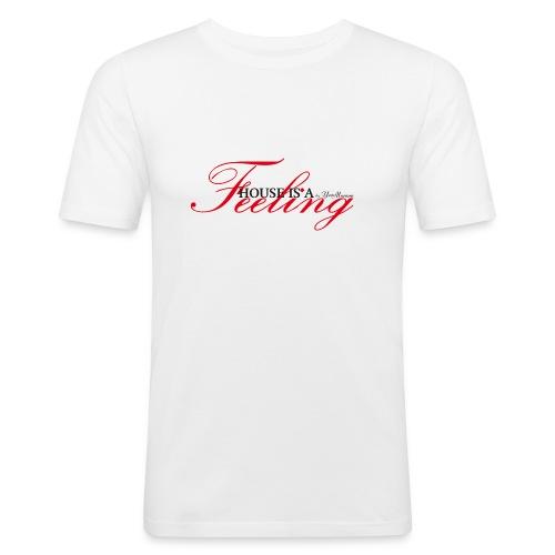 House Is a Feeling Men's T-Shirt Slim Fit / White - Men's Slim Fit T-Shirt