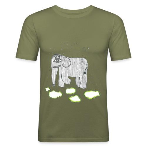 Elephant - Men's Slim Fit T-Shirt