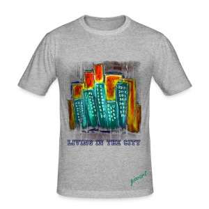 Living in the City - Männer Slim Fit T-Shirt