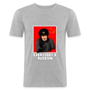 EVERYBODY'S RUSSIAN! - Men's Slim Fit T-Shirt