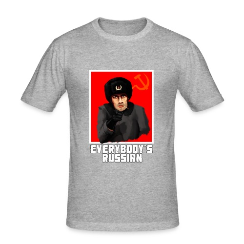 EVERYBODY'S RUSSIAN! - Men's Slim Fit T-Shirt