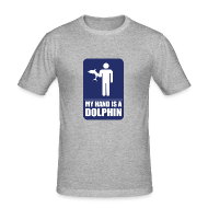 T-Shirts ~ Men's Slim Fit T-Shirt ~ MY HAND IS A DOLPHIN!