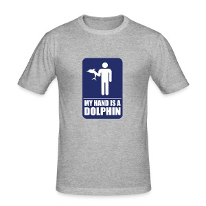 MY HAND IS A DOLPHIN! - Men's Slim Fit T-Shirt
