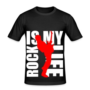 T shirt homme rock is my life - Tee shirt près du corps Homme
