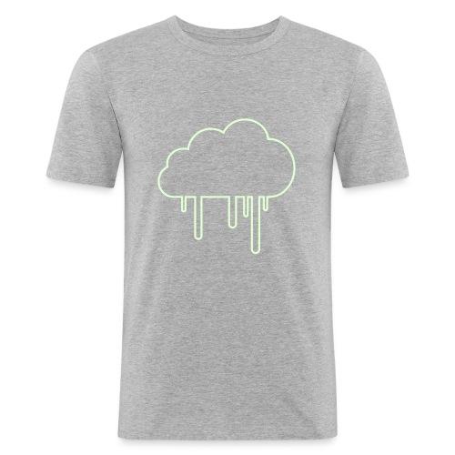 Regenwolkenshirt slim glowinthedark - Männer Slim Fit T-Shirt