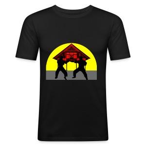 T shirt homme temple combat - Tee shirt près du corps Homme