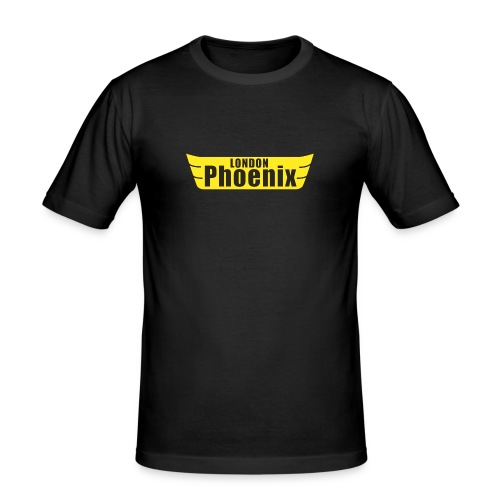 'London Phoenix' T-shirt / Black - Men's Slim Fit T-Shirt