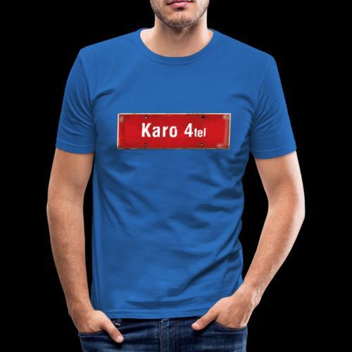 Mein Hamburg, mein Karo 4tel, mein Kiezshirt - Männer Slim Fit T-Shirt