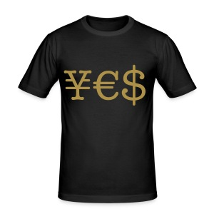 ¥€$ - Shirt - Männer Slim Fit T-Shirt