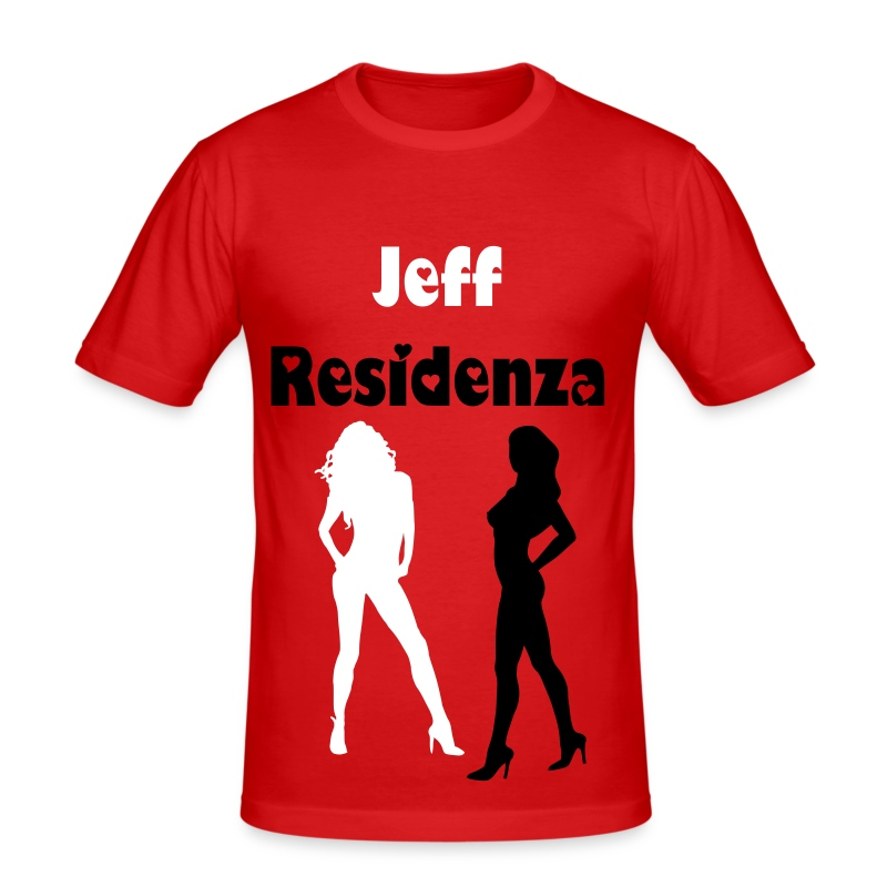 Men Slimfit: Jeff Residenza - Sexy Lady - slim fit T-shirt