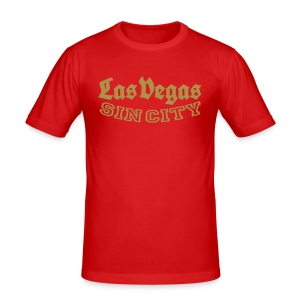 LAS VEGAS SIN CITY - Men's Slim Fit T-Shirt
