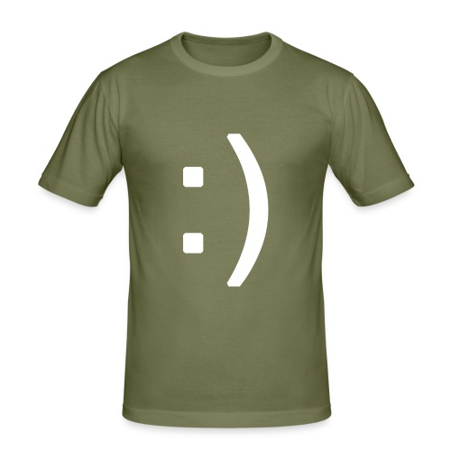Happy smiley face in text - Men's Slim Fit T-Shirt
