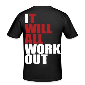 It Will All Workout - White&Red - Men's Slim Fit T-Shirt