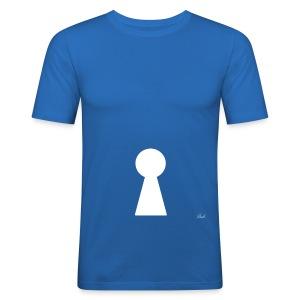 Key (White) - Men's Slim Fit T-Shirt