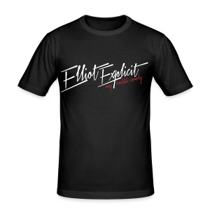 Logo Mens Slim fit Black - Men's Slim Fit T-Shirt