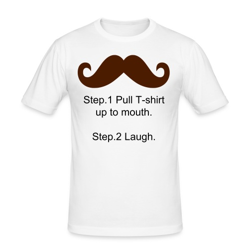 Moostache t-shirt - Men's Slim Fit T-Shirt
