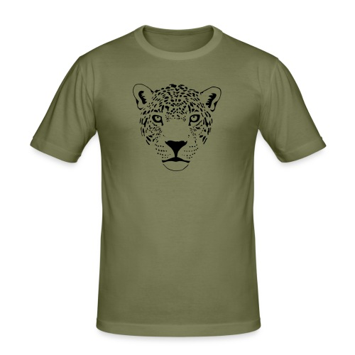 tier t-shirt jaguar puma katze gepard leopard tiger löwe raubkatze luchs wild panther - Männer Slim Fit T-Shirt