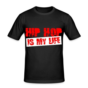 T shirt homme hip hop is my life - Tee shirt près du corps Homme