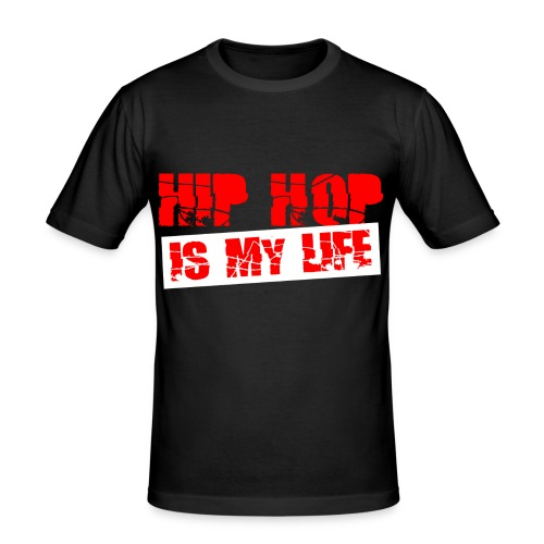 T shirt homme hip hop is my life - T-shirt près du corps Homme