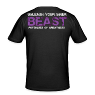 T-Shirts ~ Men's Slim Fit T-Shirt ~ Beastmode Beast Purple
