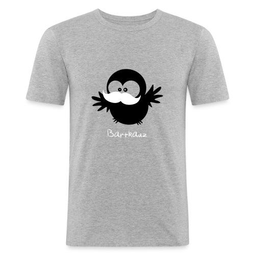Eine Eule // Mustache //Moustache - Männer Slim Fit T-Shirt