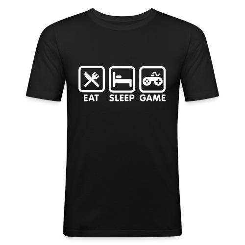 Eat, sleep, game - T-shirt près du corps Homme