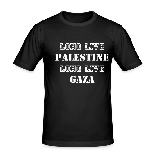 Long Live Palestine long live gaza - Men's Slim Fit T-Shirt