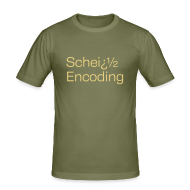 T-Shirts ~ Männer Slim Fit T-Shirt ~ Scheiß Encoding