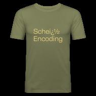T-Shirts ~ Männer Slim Fit T-Shirt ~ Scheiß Encoding