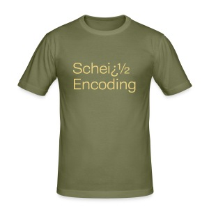 Scheiß Encoding - Männer Slim Fit T-Shirt