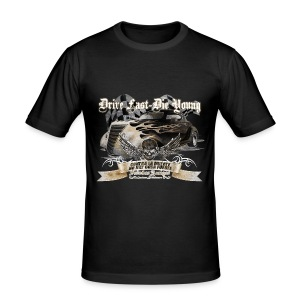 Drive fast, Die young - Männer Slim Fit T-Shirt