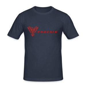 Navy Phoenix and Logo T-Shirt - Men's Slim Fit T-Shirt