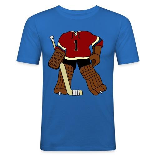 Vintage Ice Hockey Goalie Men's Slim Fit T-Shirt - Men's Slim Fit T-Shirt