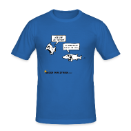 T-Shirts ~ Männer Slim Fit T-Shirt ~ Nerven