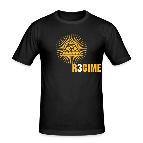 R3GIME ILLUMINATI - Men's Slim Fit T-Shirt