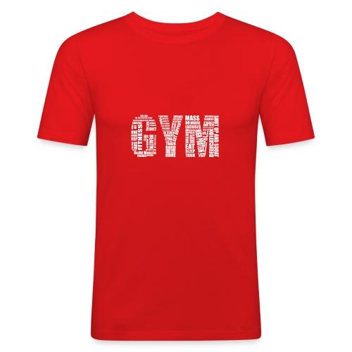 Gym Logo - Slim Fit - Men's Slim Fit T-Shirt