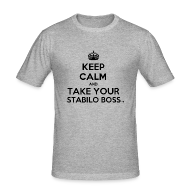 Tee shirts ~ Tee shirt près du corps Homme ~ Keep Calm