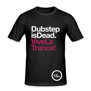 Dubstep Is Dead... [Male] White / Magenta - Men's Slim Fit T-Shirt