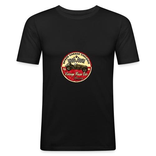 Homme tee shirt pres du corps Gazoon noir speed garage - T-shirt près du corps Homme