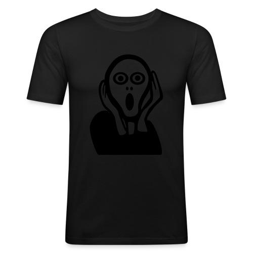 L'urlo - Maglietta aderente da uomo