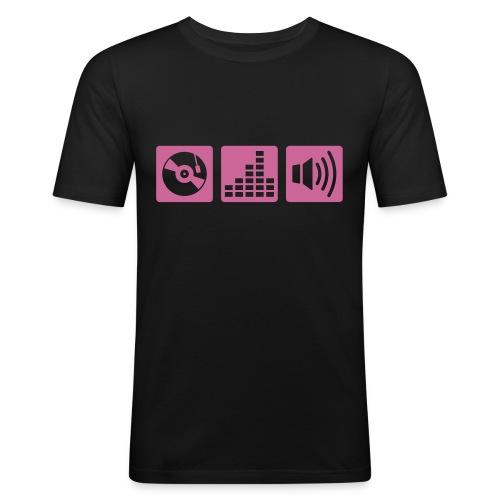 Fazer près du corps vynil - Men's Slim Fit T-Shirt