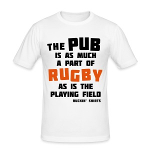 The Pub is a Part of Rugby - Men's Slim Fit T-Shirt