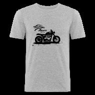Tee shirts ~ Tee shirt près du corps Homme ~ Dark Cafe Racer T-shirt grey