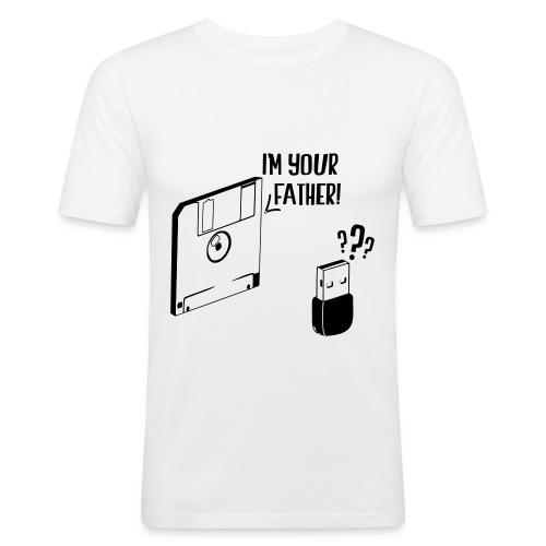 T-Shirt Disquette&USB - T-shirt près du corps Homme