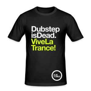 Dubstep Is Dead... [Male] White / Neon Yellow - Men's Slim Fit T-Shirt