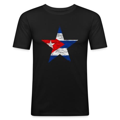 Camiseta slim fit estrella cuba - Camiseta ajustada hombre