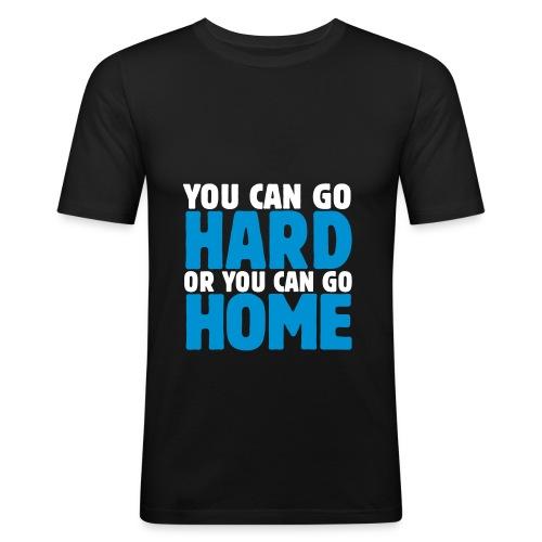 You can Go Hard T Shirt - schwarz - Männer Slim Fit T-Shirt
