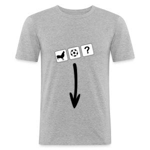 Grey Arrow T-Shirt - Men's Slim Fit T-Shirt